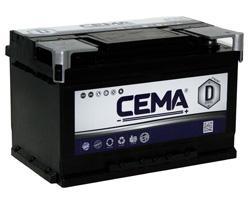 Baterías Cema CB750 - BATERIA CEMA -D-  75 AH  640 A (- +)